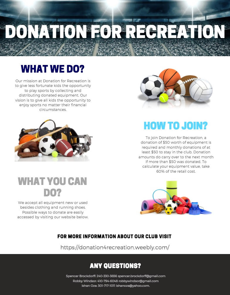 Donation For Recreation